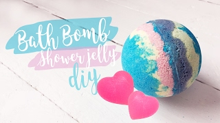 Bath Bomb & Shower Jelly | DIY | Valentýnská edice