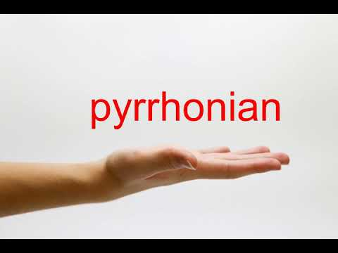How to Pronounce pyrrhonian - American English