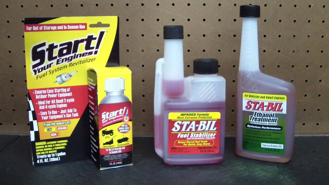 How and When to use Sta-Bil Red, Sta-Bil Ethanol Treatment, and Start Your  Engines!
