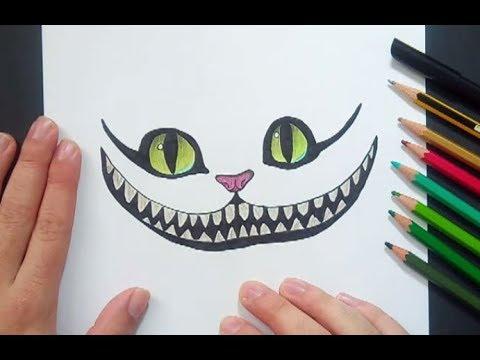 Como dibujar al gato de Cheshire paso a paso - Alicia en el pais de ...
