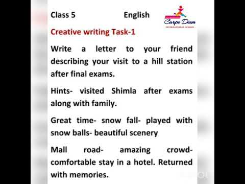 creative writing grade 5