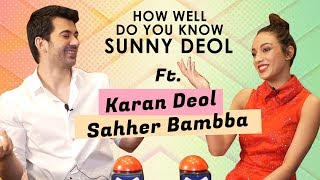 How Well Do You Know Sunny Deol? Ft. Karan Deol & Sahher Bambba | Pal Pal Dil Ke Paas | BOI