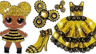 Video Play Doh LOL Surprise Queen Bee Sparkle Princess Shoes High Heels Dress Fidget Spinner Toys For Kids download MP3, 3GP, MP4, WEBM, AVI, FLV Juni 2018