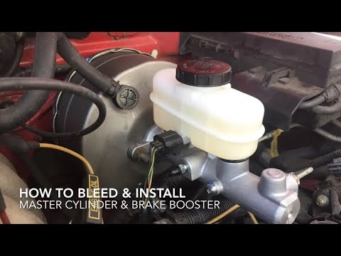 How To Remove Install Master Cylinder And Brake Booster