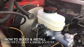 How to remove/install master cylinder and brake booster Ford Ranger
