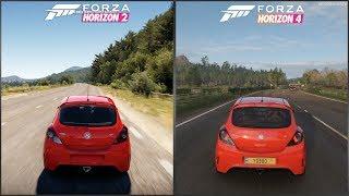 Forza Horizon 2 vs Forza Horizon 4 - 2009 Vauxhall Corsa VXR Sound Comparison