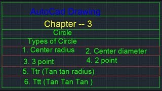 AutoCad Chapter 3, How to create 3point, How to cre,ate 2point, How to create Ttr, How to Create TTT
