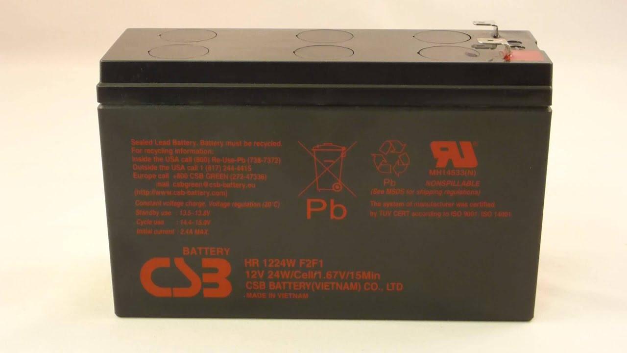 Аккумулятор csb ups 123607 (12в, 360вт/эл, 7. 5ач / 12v, 360w, 7. 5ah / вывод f2) (rbc2) (gp 1272). Производитель: csb; емкость: 7. 5 а·ч.