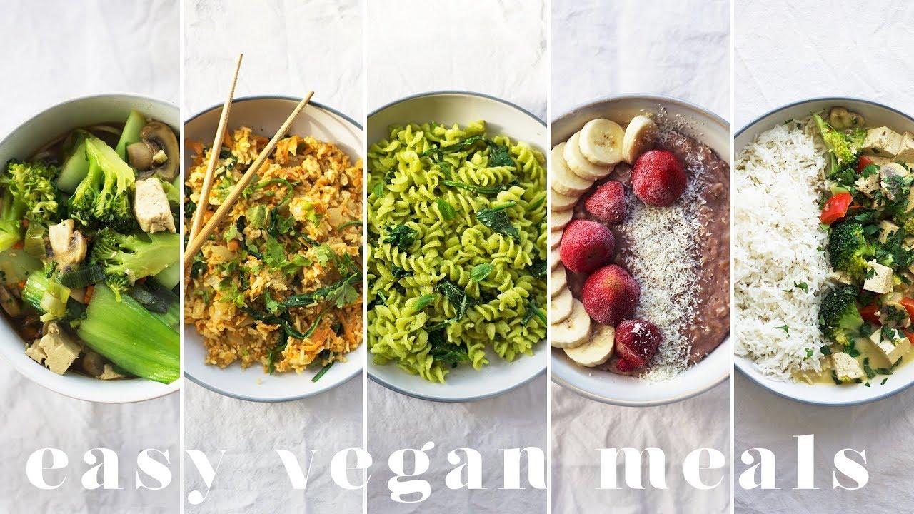My Go To Easy Vegan Meals 5 Lazy Cheap Recipes Youtube