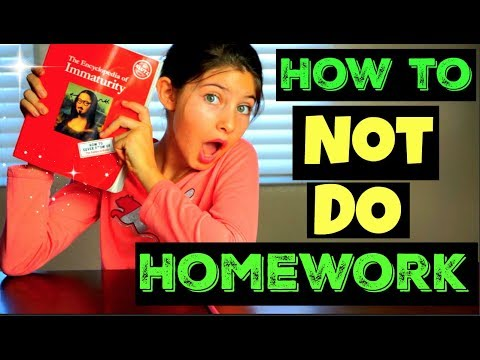 how to get out of homework 'Klutz edition'