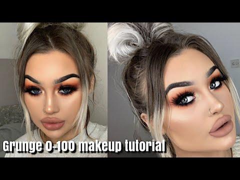 0-100 GRUNGE GLAM | makeup tutorial thumbnail