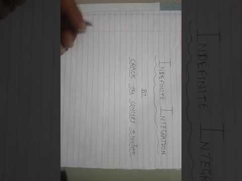 Std.12 - Mathematics - L-6 -  INTEGRATION Basic (G.S.E.B. Board)