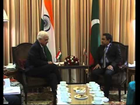 02 Jan 2013 - Maldives President meets India's Foreign Minister to enhance bilateral ties