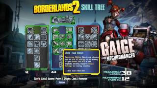 Borderlands 2 - MECHROMANCER RELEASED EARLY - Skill Tree Analysis