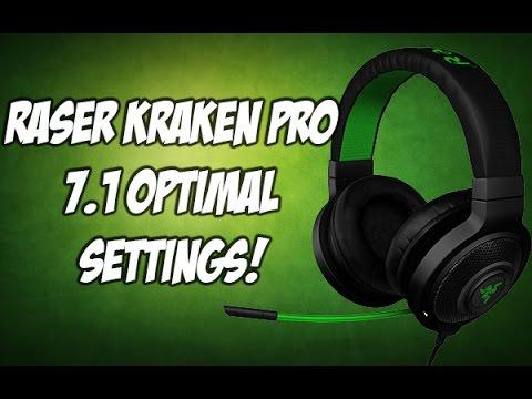 Razer Kraken 7 1 Usb Optimal Settings For Mic And Audio Youtube