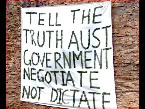 Self-governing Norfolk Island locals protest against Australia's control