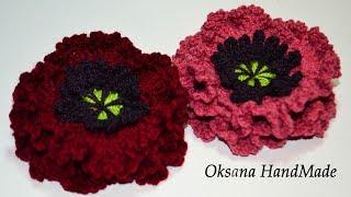 Цветок Мак крючком. Мастер класс. Poppy flower crochet