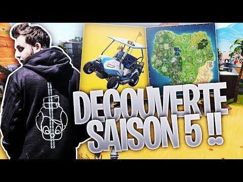 DÉCOUVERTE SAISON 5, VOITURE, BATTLE PASS FORTNITE !!