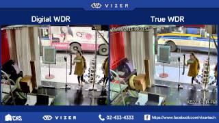 กล้องวงจรปิด Vizer โหมดย้อนแสง True WDR