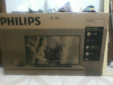 Philips 5000 Series 43PFG5000 LED Plana 43 polegadas - YouTube