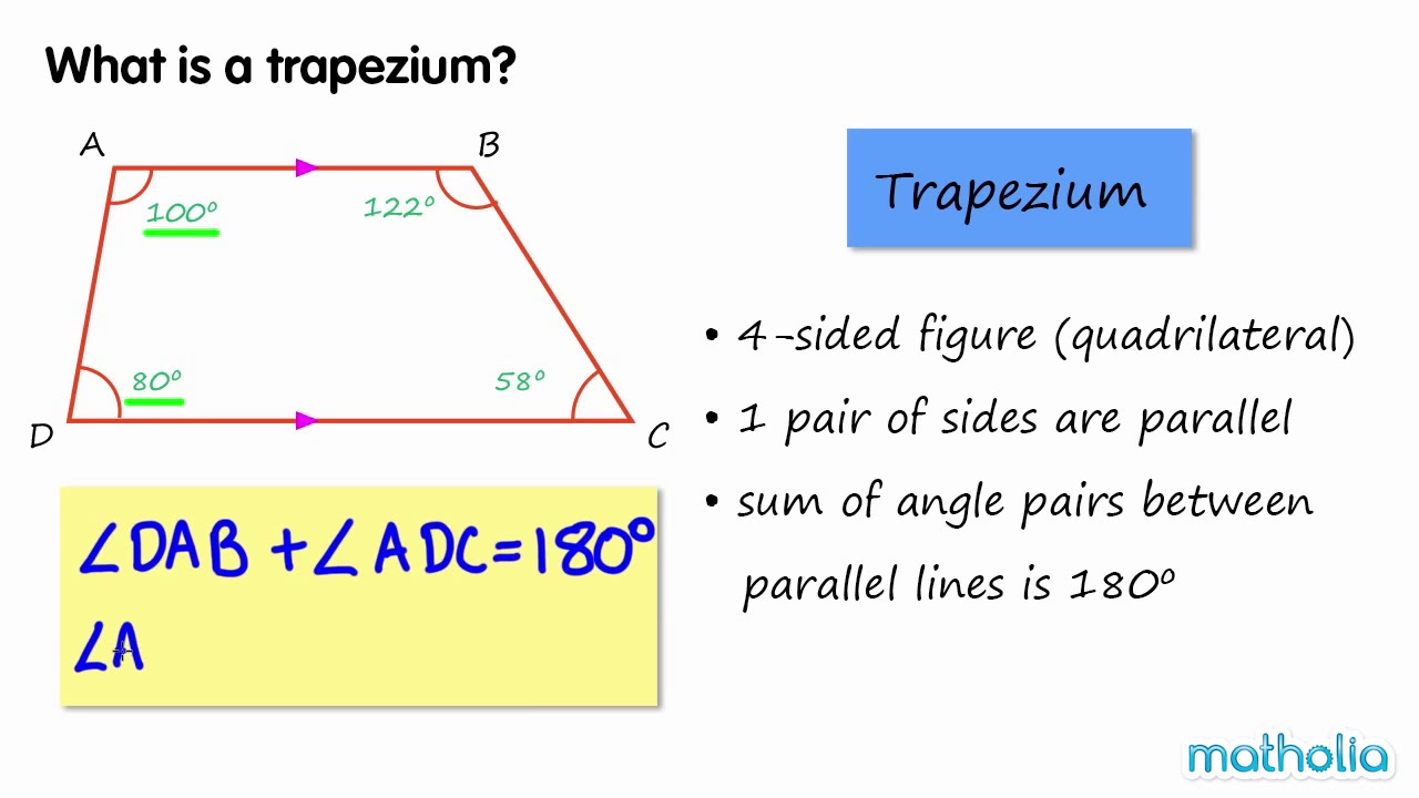 worksheet Properties Of Trapezoids properties of a trapezium youtube trapezium