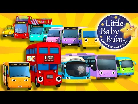 Bus Song | Ten Little Buses! | Nursery Rhymes | By LittleBabyBum!