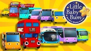 Bus Song | Ten Little Buses! | Nursery Rhymes | By LittleBabyBum!