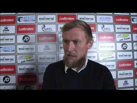 CaleyJagsTV : Richie Foran Reaction v Kilmarnock : 22/10/16
