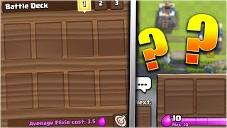 WHAT HAPPENS IF YOU BATTLE WITH AN EMPTY DECK WITHOUT CARDS In Clash Royale!?