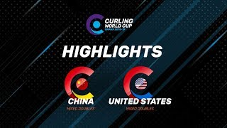 HIGHLIGHTS: China v United States – Mixed Doubles – Curling World Cup leg two, Omaha, United States