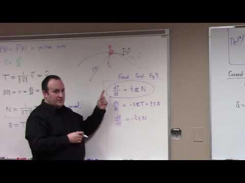 Multivariate Calculus: acceleration and Frenet data, 2-5-18, part 1