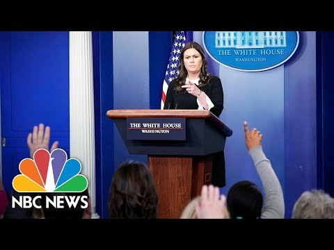 Watch Live: White House Press Briefing - April 13, 2018