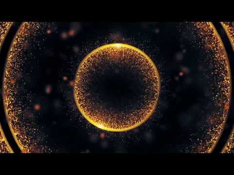 Motion graphics abstract animation background || Golden Yellow Glittery Background