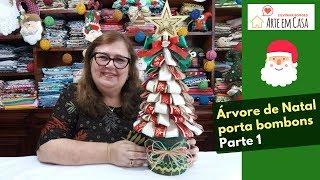 Aprenda Fazer Arvore de Natal Porta e Bombons – Faça e Venda