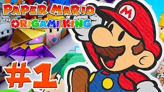 Paper Mario: The Origami King - Gameplay Walkthrough - Intro Part 1