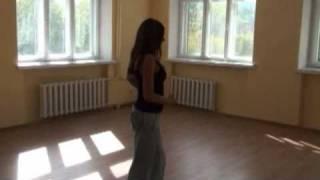 Танцуем сальсу - Базовый шаг сальсы прогулка