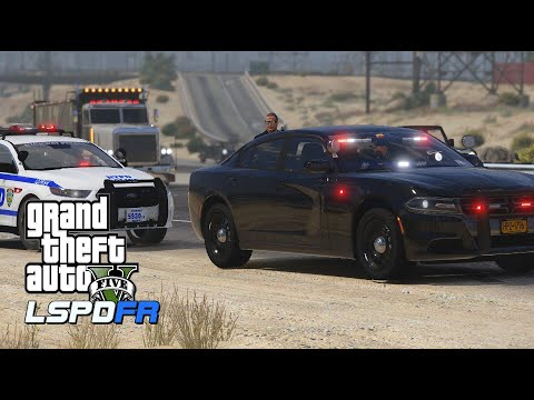 GTA V - LSPDFR 0.4.6   New York Highway Patrol Unmarked   Highway Chase