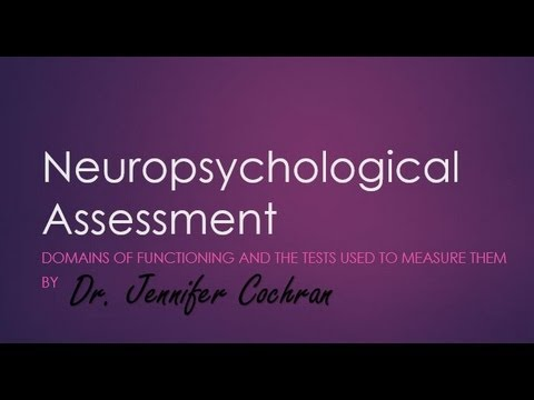 Intro to Neuropsychological Assessment