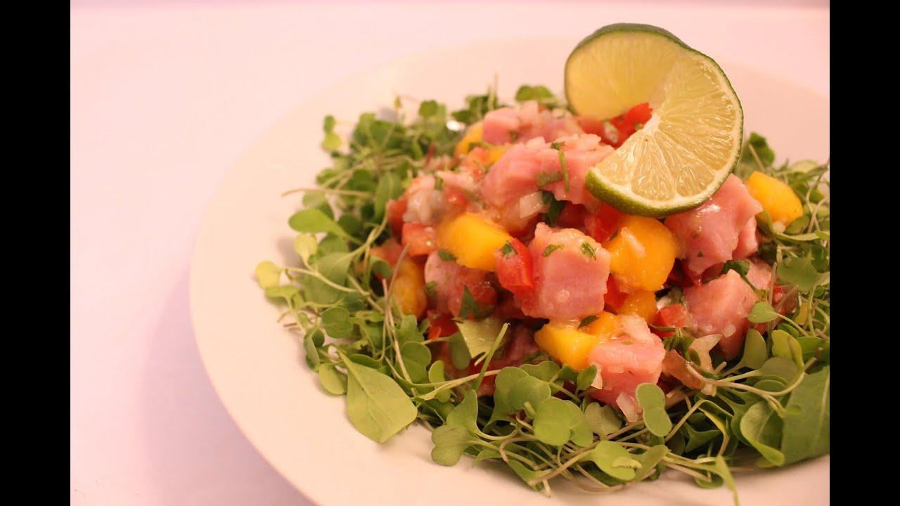 recipe: tuna mango ceviche [14]