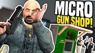 WORLDS SMALLEST GUN SHOP - Gmod DarkRP | Micro Gun Shop!