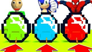 Minecraft : DO NOT CHOOSE THE WRONG DIAMOND!(Baldi,Sonic,Spiderman) (PS4/XboxOne/PE/MCPE)