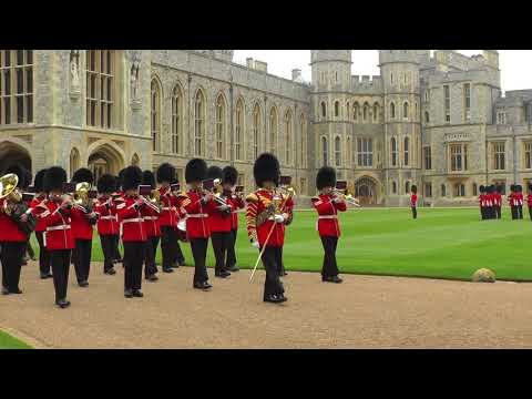 IMMS-UK: Band of the Welsh Guards - Changing of the Guard, Windsor Castle - April 2018