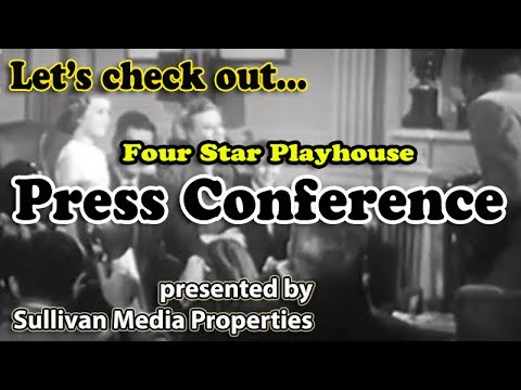 Four Star Playhouse: Press Conference || a classic TV encore featuring Dennis Morgan