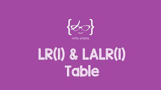 lr 1 lalr 1 parsing table