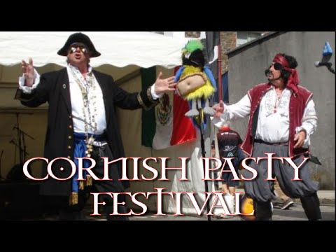LIve Cornish Pasty Festival Cornwall. Pirateers performing the Cornish Pastie Song