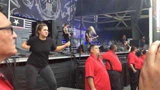 Passionate Sign Language Interpreter At Rock Gig