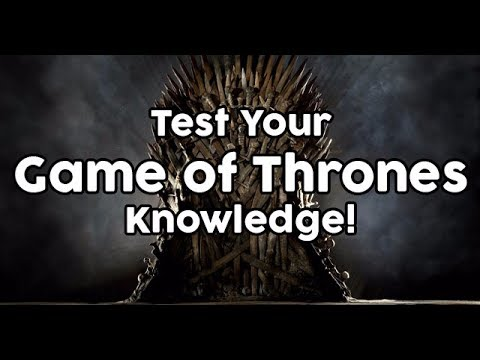 Game of Thrones Podcast Special Episode: Trivia Game