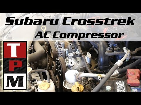 2014 Subaru XV Crosstrek AC Compressor Problem and Replacement - YouTube