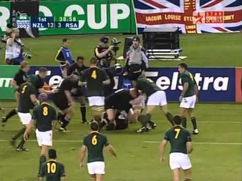 Rugby 2003. Quarterfinal. New Zealand v South Africa