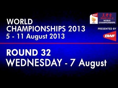 R32 - WD - Wang XL./Yu Y. vs Cheng W.H./Hsieh P.C. - 2013 BWF World Championships
